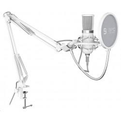 SPC Gear mikrofon SM950 Onyx White / drátový / streamovací / pop...