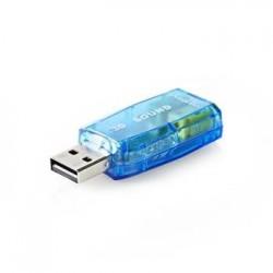 Nedis USCR10051BU - Zvuková Karta | 3D zvuk 5.1 | USB 2.0 | Dvojitý...