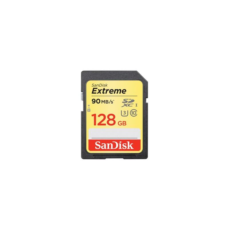 SanDisk Extreme SDXC card 128GB 90MB/s UHS-I SDSDXVF-128G-GNCIN