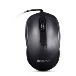 Canyon CNE-CMS01B, optická myš, USB, 1000 dpi, 3 tlač, čierna