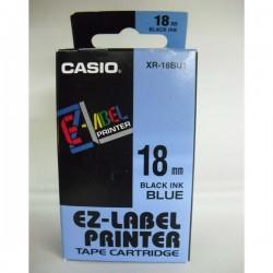 Casio originál páska do tlačiarne štítkov, Casio, XR-18BU1, čierny...