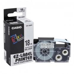Casio originál páska do tlačiarne štítkov, Casio, XR-18SR1, čierny...