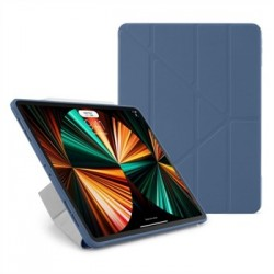 """Pipetto puzdro Origami TPU Case pre iPad Pro 12.9"""" 2021 - Navy Blue..."""