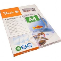 Peach Laminating Pouch A4 (216x303mm), 80mic PP580-50