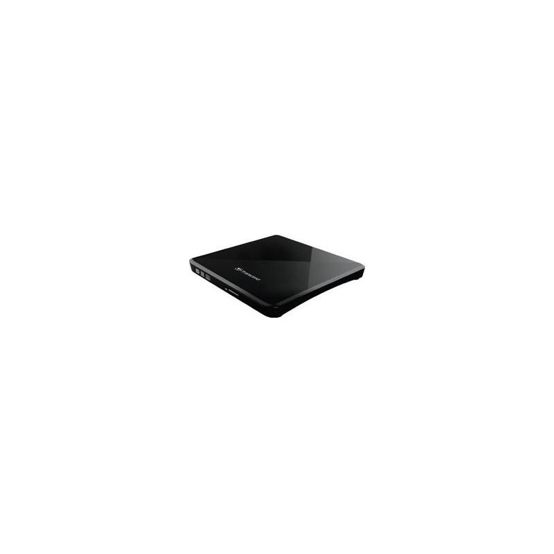 Transcend externí SLIM USB DVD černá CD-R/RW, DVD±R, DVD±RW, DVD±R DL, DVD-RAM mechanika TS8XDVDS-K