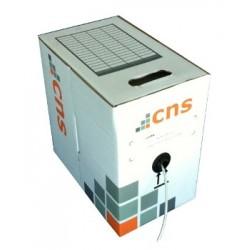 CNS kabel UTP, Cat5E, drát, PVC, Eca, box 100m - šedá NTW-OXFUA0010