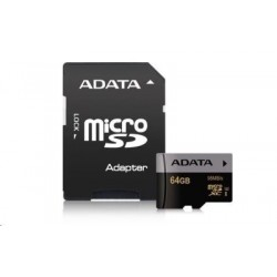 64 GB microSDHC/SDXC UHS-I U3 karta A-DATA Premier Pro Ultra High Speed + adapter AUSDX64GUI3CL10-RA1