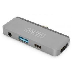 DIGITUS mobilní dokovací stanice DIGITUS USB-C ™, 4 porty DA-70893