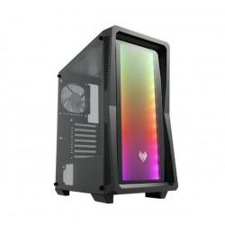FSP/Fortron ATX Midi Tower CMT212G Black, A.RGB light bar POC0000132