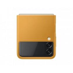 Samsung Kožený zadní kryt Z Flip3 Mustard EF-VF711LYEGWW