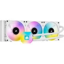 CORSAIR iCUE H150i ELITE CAPELLIX RGB 360mm vodní chlazení, bílá...