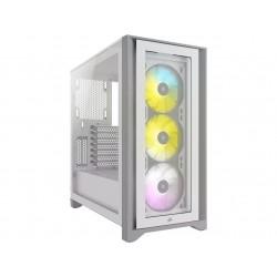 CORSAIR iCUE 4000X RGB TG mid-tower, bílá CC-9011205-WW