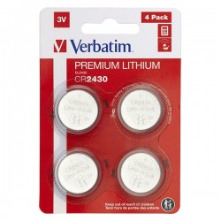 Batéria líthiová, CR2430, 3V, Verbatim, blister, 4-pack, 49534
