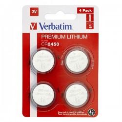 Batéria líthiová, CR2450, 3V, Verbatim, blister, 4-pack, 49535