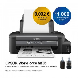 Epson WorkForce M105, A4 mono tlaciaren, USB, WiFi C11CC85301