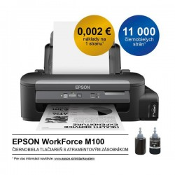 Epson WorkForce M100, A4 mono tlaciaren, USB, LAN C11CC84301