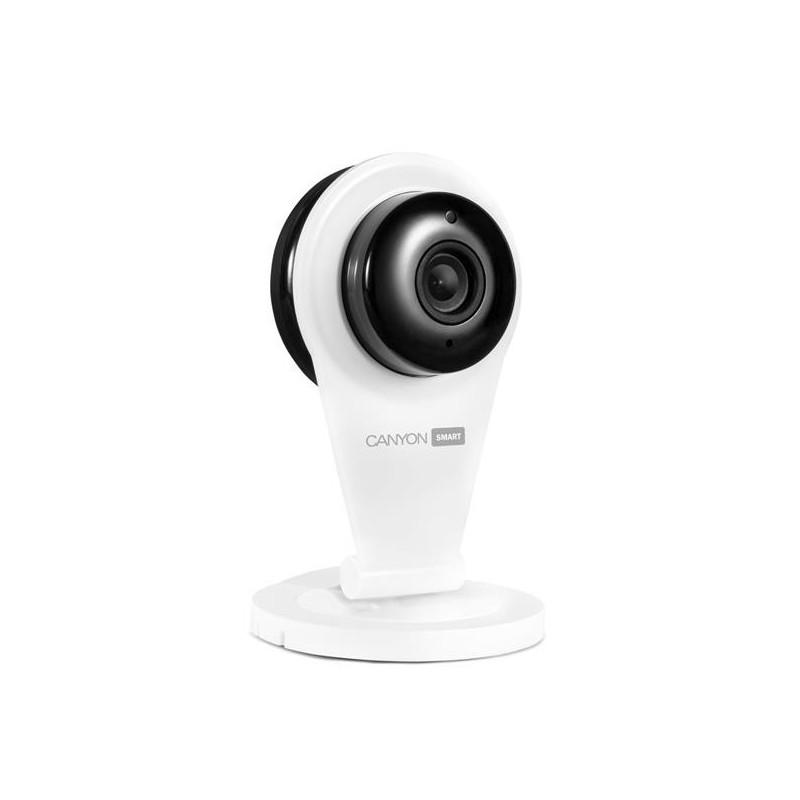 Canyon CNSS-CB1W prenosná indoor Wi-Fi HD IP kamera, multifunkčné využitie v domácnosti, biela