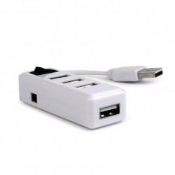 GEMBIRD USB hub, 2.0, 4 port, vypínač, bílý UHB-U2P4-21