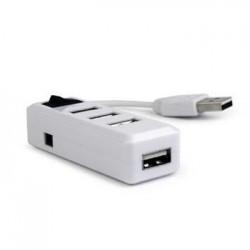 Gembird USB hub 2.0, 4 port, vypínač, bílý REA05E122