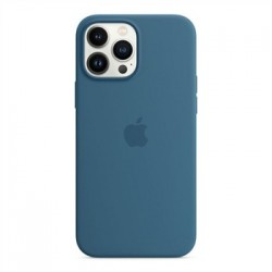 Apple iPhone 13 Pro Max Silicone Case with MagSafe - Blue Jay...