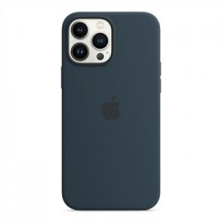 Apple iPhone 13 Pro Max Silicone Case with MagSafe - Abyss Blue...