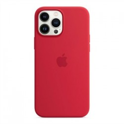 Apple iPhone 13 Pro Max Silicone Case with MagSafe - (PRODUCT)RED...
