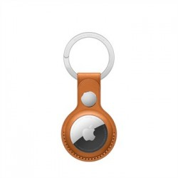 Apple AirTag Leather Key Ring - Golden Brown MMFA3ZM/A