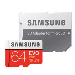 SAMSUNG Micro SDXC EVO Plus 64GB (2017) MB-MC64GA/EU