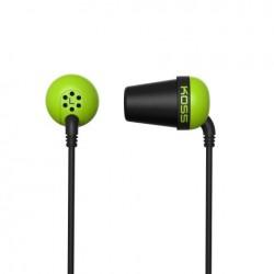 KOSS Plug Color sluchatka vysokej kvality - zelene PLUG G