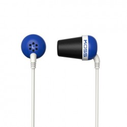 KOSS Plug Color sluchatka vysokej kvality - modre PLUB B
