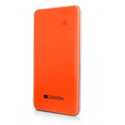 Canyon CNS-CPB40O prémiová ultra-štíhla ext. batéria s nabíjačkou 4000mAh, USB 5V/1A, oranžová