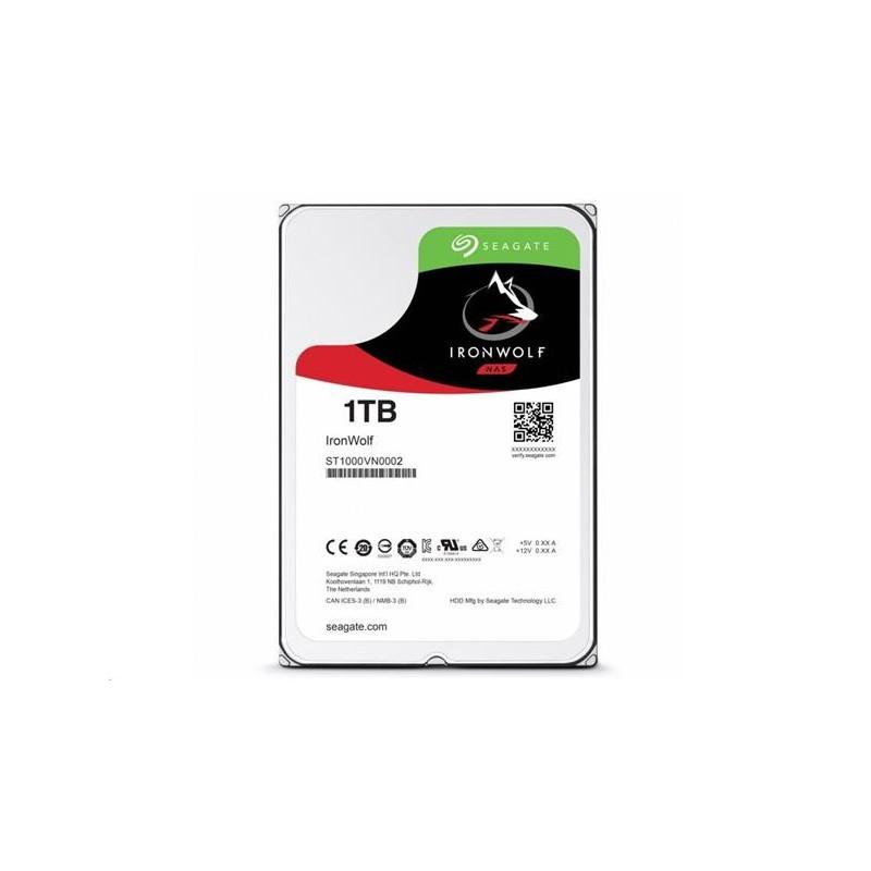 Seagate IronWolf NAS HDD 1TB 5900RPM 64MB SATA III 6Gbit/s ST1000VN002