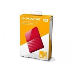 """4TB WD My Passport Black Bird, 2,5"""", USB 3.0, Externý cerveny WDBYFT0040BRD-WESN"""