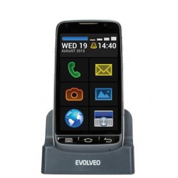 EVOLVEO EasyPhone D2, Android smartphone s jednoduchým ovládaním a nabíjacím stojanom EP-D2