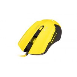 C-Tech hráčska myš Cronus (GM-02Y), žlto podsvietená, 2400DPI, USB