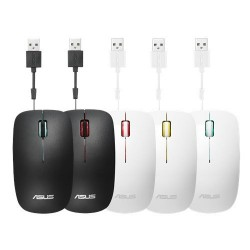 ASUS MOUSE UT300 Wired  - optická drôtová myš; bielo-žltá...