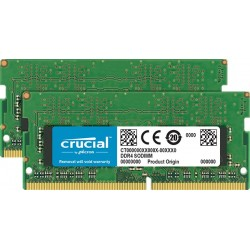 16GB DDR4 2400 MT/s (PC4-19200) CL17 Crucial DR x8 Unbuffered SODIMM 260pin CT16G4SFD824A