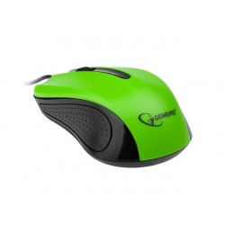 Gembird optická myš 1200 DPI, USB, čierno-zelená MUS-101-G
