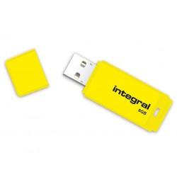 INTEGRAL Neon 8GB USB 2.0 flashdisk, žltý INFD8GBNEONYL