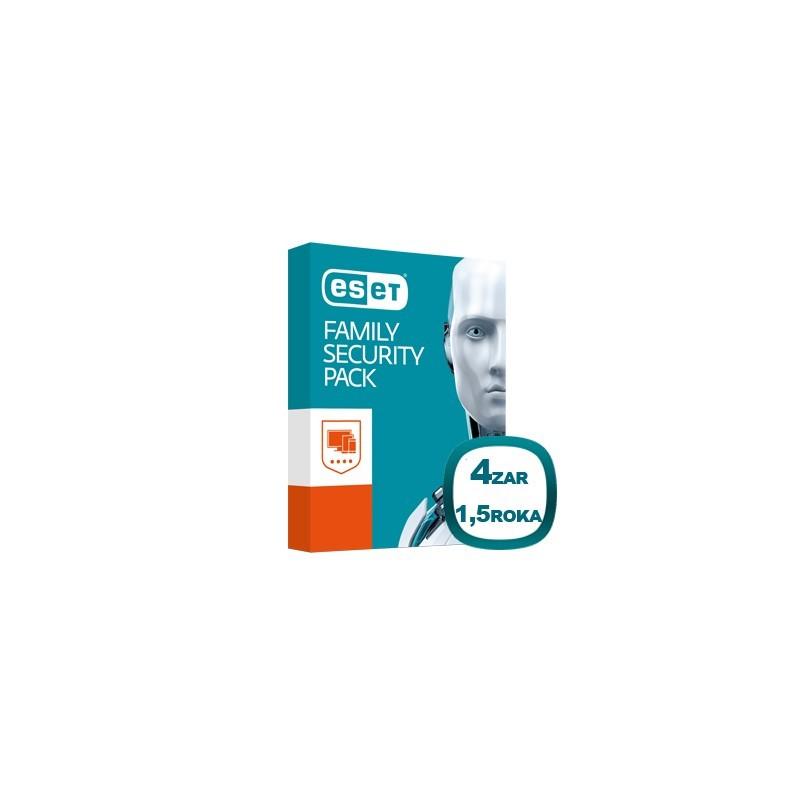 Antivírusový program ESET Family Pack pre 4 zariadenia na 18 mesiacov, 8588005558815
