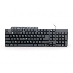 Gembird compact multimedia keyboard KB-UM-104, USB , US layout, black