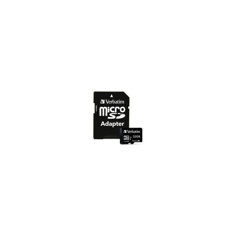 Verbatim 32GB Micro SD (HC) CLASS 10 WITH ADAPTOR 44083