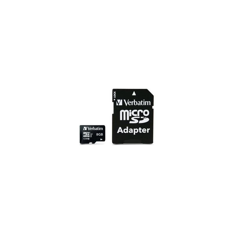 Verbatim 8GB Micro SD (HC) CLASS 10 WITH ADAPTOR 44081