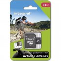Integral micro SDHC/SDXC for Action Camera Card (tested with GoPro), 64GB INMSDX64G10-ACTION