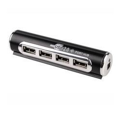 Tracer CH3 čítačka kariet All-In-One HUB USB 2.0 H6 4 ports with AC adap, čierna TRAPOD16168.