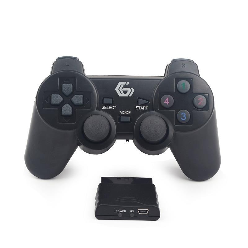 Gembird Wireless dual vibration gamepad, PS2/PS3/PC JPD-WDV-01