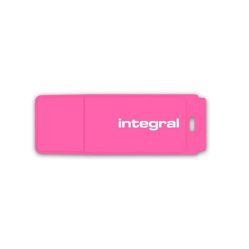 Integral USB Flash Drive Neon 8GB USB 2.0 - Pink INFD8GBNEONPK