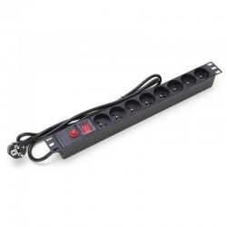 Start.Lan power bar 1U for 19' rack cabinets - 8 outlets STLPDU08-F-H1U-1.8