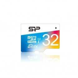 Silicon Power memory card Micro SDHC 32GB Class 1 Elite UHS-1 +Adapter SP032GBSTHBU1V20SP