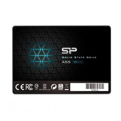 Silicon Power SSD Slim A55 64GB 2.5', SATA III 6GB/s, 560/530 MB/s, 3D NAND SP064GBSS3A55S25